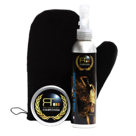 Tan crème Bronze Tan avec gant et huile de posing